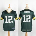 GREEN BAY PACKERS NFL JERSEY AMERICAN FOOTBALL SHIRT AARON ROGERS # 12 REEBOK S