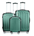 3Pcs Luggage Travel Set Bag w/TSA Lock ABS Trolley Spinner Carry On Suitcase M9