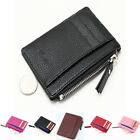 Mini Womens Men Leather Wallet Card Holder Zip Coin Key Purse Handbag Bag USA image