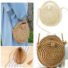 Beach Straw Bags Retro Rattan Handbag Crossbody Bohemia Small Round Bag Women Us