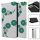Phone Flip Wallet Case Cover Paisley Flower Pattern - S9112