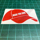 Red Baseball Cap MAGA Made You Look Patriotic USA Second Amendment Decal Sticker
