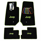 JEEP JK 2 Door Floor Mats Wrangler Sahara Rubicon 2007-2018 - Custom Colors