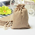 50pcs Small Burlap Jute Hessian Wedding Favor Jewellery Bags Drawstring Pouches