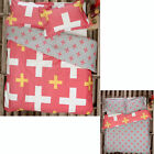 3 Pce Christo Coral White Reversible Quilt Doona Duvet Cover Set Queen by Ardor