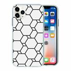 Black & White Geometric TPU Back Case Cover For Mobile Phone - S10415