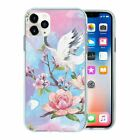 Silicone Phone Case Back Cover Floral Stork print - S10488