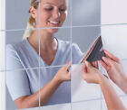Uk Bathroom Mirror Tiles Wall Stickers Square Self Adhesive Reflective Decor
