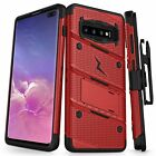 Zizo BOLT Case for Samsung Galaxy S10 Plus with Holster, Lanyard and Kickstand
