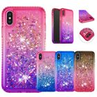 Bling Glitter Sparkle Liquid Quicksand Case Cover For i Phone XS Max 7 Plus 6S 8