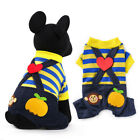 Stripe Pet Dog Jumpsuit Clothing Outfit Small Puppy Overalls Pajamas Bear Pants