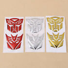 1 Pair 3d Autobot Transformers Decepticon Decal Car Sticker Motorcycle Pvc Decor