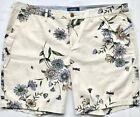 "7"" Inseam Twill OLD NAVY Women's Everyday Mid-Rise Shorts, Navy Polka Dot Floral"