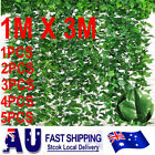 3mx1m Artificial Fake Ivy Leaf Roll Dense Fence Green Hedge Garden  1 2 3 4 5pcs