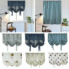 New Embroidered Sheer Rome Window Kitchen Half Blackout Tie Up Curtain Screens