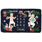 Newborn Baby Fleece Letter Milestone Blankets Photography Rug Photos Props Mats