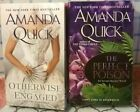 2 BOOK LOT- AMANDA QUICK-HIST ROMANCE NOVELS-OTHERWISE ENGAGED/THE PERFECT POISO