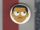 OBAMA EMOJIE BUTTON PIN SMALL LITTLE GEM 1.5 INCH POLITICAL CAMPAIGN BADGE
