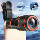 HD 12X Optical Zoom Clip On Camera Phone Telescope Lens For IPhone Universal R0
