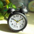Vintage Retro Silent Alarm Clock Mute Bedroom Bedside Mini With Night Light Hot