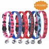 6 Pcs Breakaway Reflective Safety Cat ID Collars with Bell