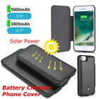 External Solar Power Battery Charger Case Cover Power Bank For Phone 6 7 7