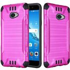For Huawei H1711 Brushed Armor 2-Piece Hard Soft Slim Protector Case