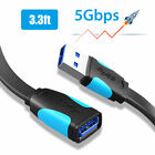 1.6/3.3/6.6FT USB 3.0 High Speed Male A to Female A Data Sync Extension Cable