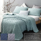3 Pieces Ultra Soft Quilted Quilt Bedspread Blanket Coverlet Bedding Filled Set image