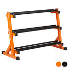 Mirafit 3 Tier Rubber Hex Dumbbell Weight Rack 400kg Storage Tree Home Gym Stand