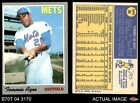 1970 Topps #50 Tommie Agee Mets VG EX