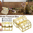 pirate treasure chest jewelry box crystal gem storage organizer mini case gift For Sale - 46