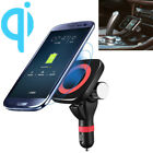 Qi Wireless Car Charger Magnetic Cigarette Lighter Mount Holder Pad For iPhone X