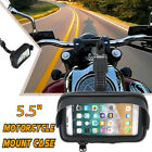 5.5'' Waterproof Sun Shade Phone Holder Motorcycle Mount Case Bag Touch Screen