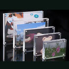 Acrylic Picture Frame High-Clear Freestanding Holder Magnetic Transparent Box
