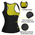 Women Workout Sweatsuit Sweat Body Shaper Tank Top Shirt Waist Trainer Vest GIFT
