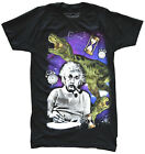 Albert Einstein Time Travel Black Men's Graphic T-Shirt New