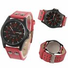 Mens Sport Watches Army Military Leather Band Strap Quartz Casual Wrist Watch US image