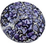 10 Vintage Purple Blue Swirl Round Pointed Cabochon Findings 29 mm