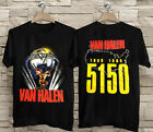 Van Halen 5150 Tour T-Shirt 1986 Concert T-Shirt 100% Cotton Size S to 4XL image