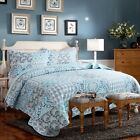 Luxury Chic Bedspread Full Patchwork Pattern Printed Quilt Coverlet Bedding Set image