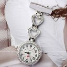 Crystal Heart Flower Hanging Pin Doctor Quartz Nurse  Watch Clip-on Fob Brooch