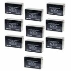 NEW 10 PACK UPG UB1290 12V 9AH Battery Replaces Boss Buck Large Conversion Kit