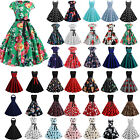 Women Lady 50s 60s Vintage Style Rockabilly Pinup Swing Casual Party Prom Dress