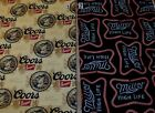 FQ Beer Signs Fabric U Pick Coors Golden Cans Miller High Life Neon Lights