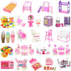 Dollhouse Miniature Furniture Accessories Bathroom Living Room Kid Childern Toys