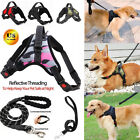 No Pull Dog Pet Heavy Duty Harness Adjustable Vest &Leash Outdoor Walking M/L/XL