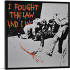 ARTCANVAS I Fought The Law And I Won Canvas Art Print by Banksy