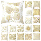 Leaf Cushion Cover Throw Waist Pillow Case Home Cotton Linen Decorative