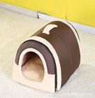 Soft Pet Dog House Bed Kennel Mat Pad Warm Washable Puppy Cushion Comfortable